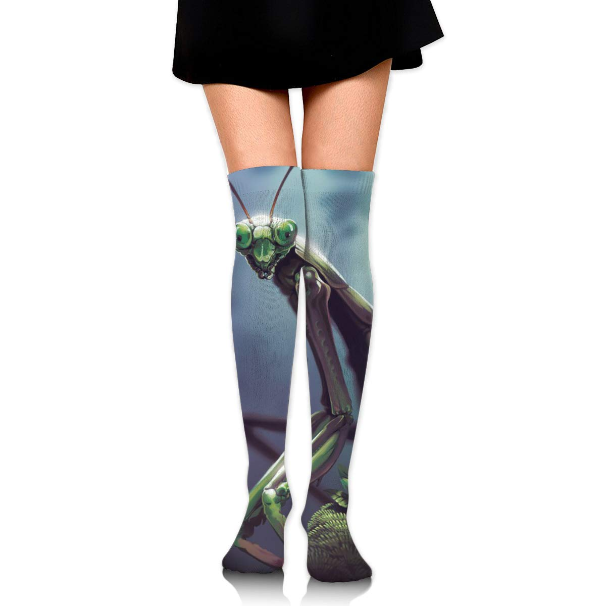 High Elasticity Girl Cotton Knee High Socks Uniform Praying Mantis Women Tube Socks