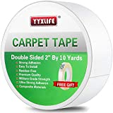YYXLIFE Double Sided Carpet Tape for Area Rugs Carpet Adhesive Rug Gripper Removable Multi-Purpose Rug Tape Cloth for Hardwood Floors,Outdoor Rugs,Carpets.Heavy Duty Sticky Tape,2Inch x 10 Yards,White: more info