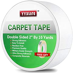 "Double Sided Carpet Tape Heavy DutyYYXLIFE carpet tape is a variant of rug tape.Tape is available in 2"" x 30 yards, 2"" x 10 yards.You can choose the size you want。rug tape is one of the pioneers in the world of double sided tape heavy duty bo..."