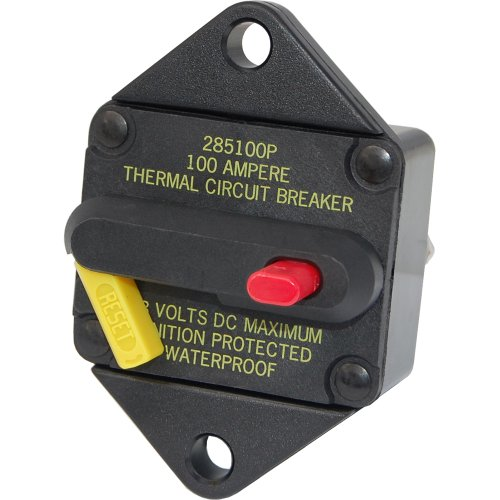 Blue Sea 7086 80 Amp Circuit Breaker Panel Mount 285 Series 185 Series Thermal Circuit Breaker