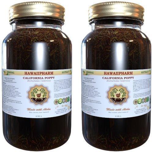 Certified Organic California Poppy (Eschscholzia Californica) Liquid Extract 2x32 oz Unfiltered by HawaiiPharm