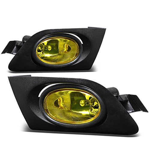 Honda Civic Driving Bumper Fog Light+Bulbs+Switch (Amber Lens) - 7th Generation ES EM D17