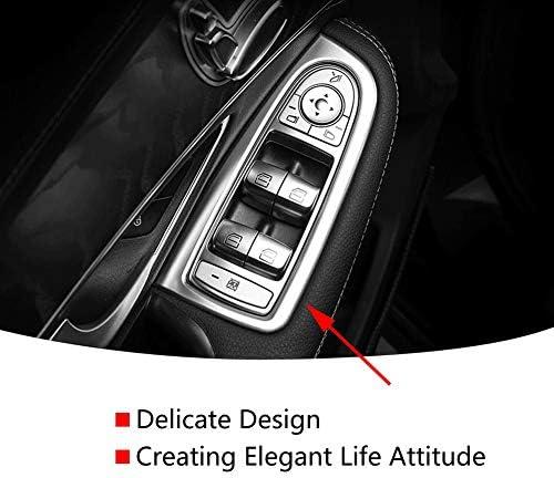Keenso Auto Fenster Anhebender Knopf Dekorations Rahmen Abs Chrom Auto Fensterheber Knopf Schalter Abdeckungs Auto