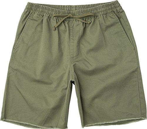 RVCA Men's a.T. Dayshift Elastic Short, Fatigue, M - Edge Shorts