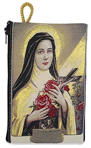 Venerare Embroidered Rosary Pouch by (Large, Saint Teresa of Avila) by Venerare