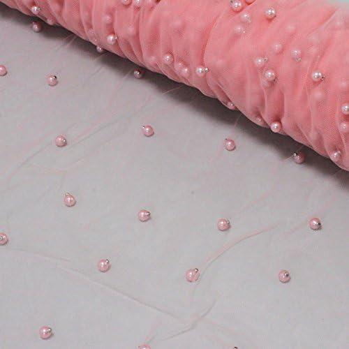 Tul con cosido perlas – Color Rosa: Amazon.es: Hogar