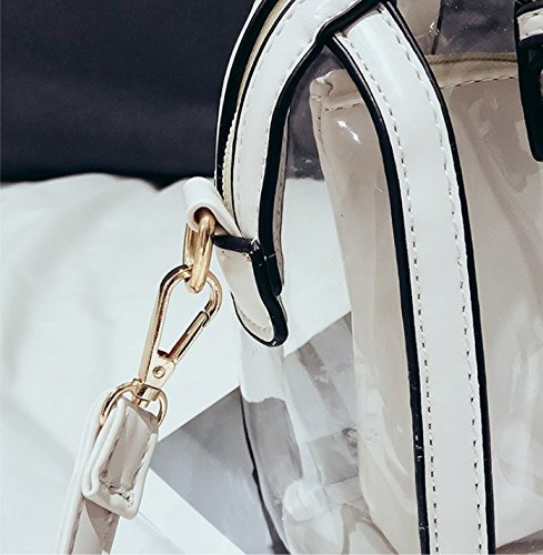 Épaule Nouvelle Transparent Sac Sac À Main Meaeo White À Mode Bandoulière Blanc qzgOx