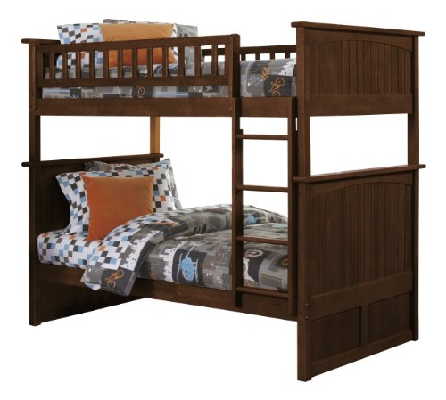 Antique Walnut Bunk Bed (Nantucket Bunk Bed, Twin Over Twin , Antique Walnut)