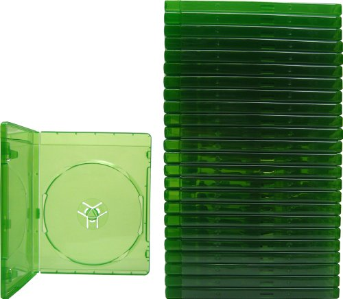 (25) XBOX ONE - Translucent Green - 12MM - Replacement Game Cases