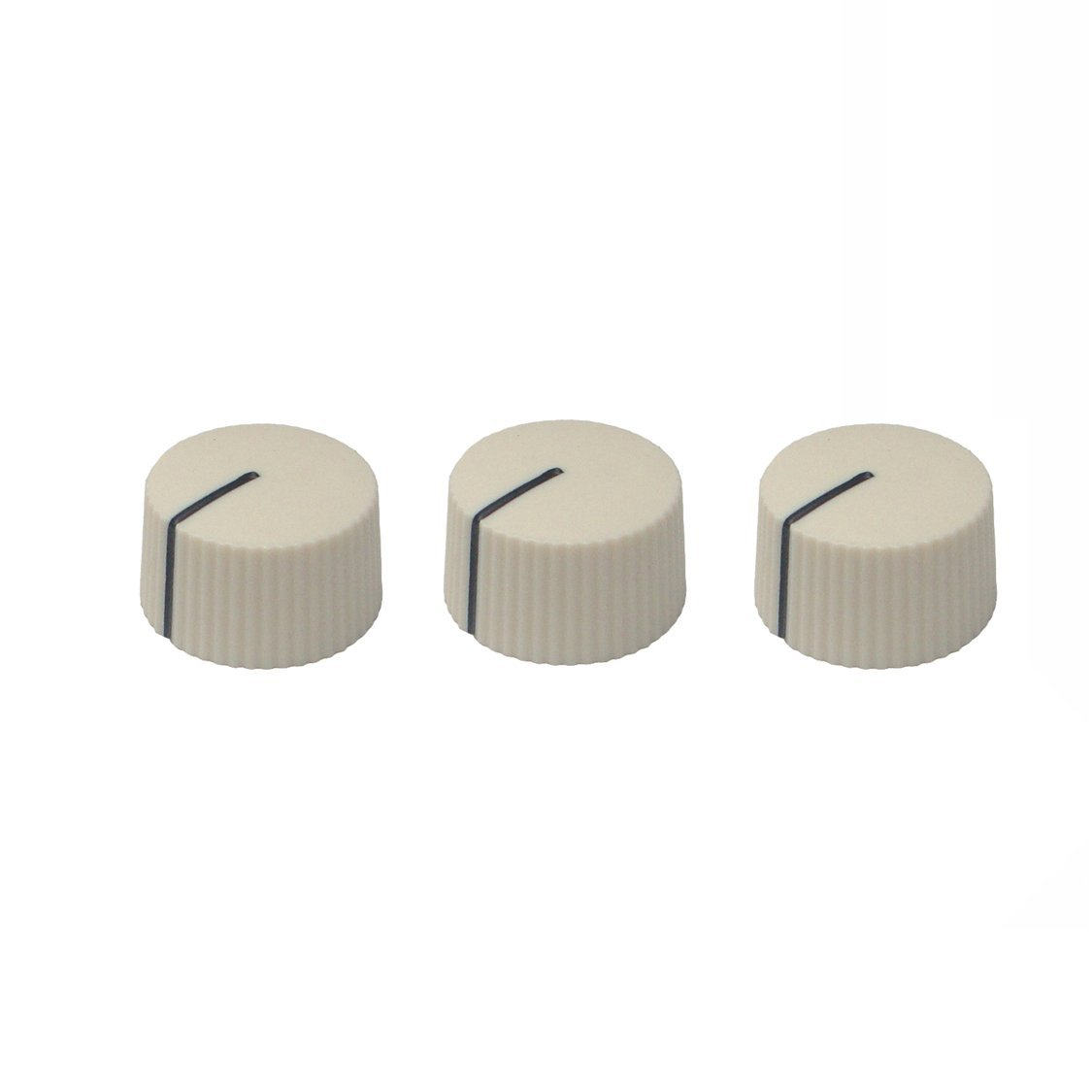 Guitar Pedal Effect Potentiometer Serrated Round Pointer Knob - Set of 3