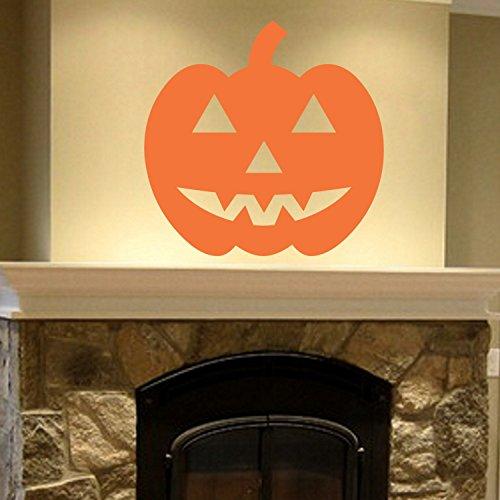 43SabrinaGill Jack O Lantern Halloween Pumpkin Wall Vinyl Decal Sticker Family Kids Room Mural Holiday Spooky Scary Fun 22