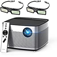 XGIMI H1 DLP Projector 300 Display Home Theater Native HD 1080P Support 4K 3D 900ANSI Lumens with Harman Hardon Stereo+2xDLP Link Active 3D Glasses-Lightwish
