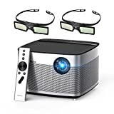 XGIMI H1 DLP Projector 300'' Display Home Theater Native HD 1080P Support 4K 3D 900ANSI Lumens with Harman Hardon Stereo+2xDLP Link Active 3D Glasses-Lightwish