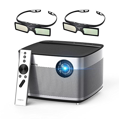 XGIMI H1 DLP Projector 300'' Display Home Theater Native HD 1080P Support 4K 3D 900ANSI Lumens with Harman Hardon Stereo+2xDLP Link Active 3D Glasses-Lightwish by XGIMI
