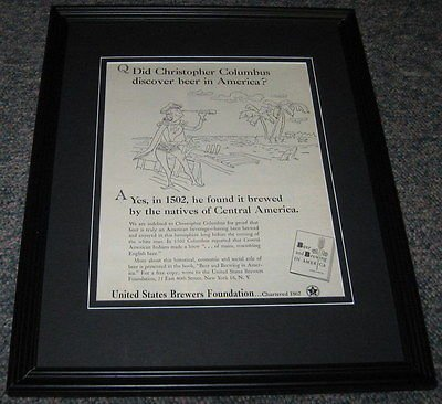 (US Brewers Foundation ORIGINAL 1951 Framed Advertisement Promotional Photo 8x10)
