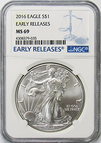 2016 American Silver Eagle $1 MS69 NGC Early Releases