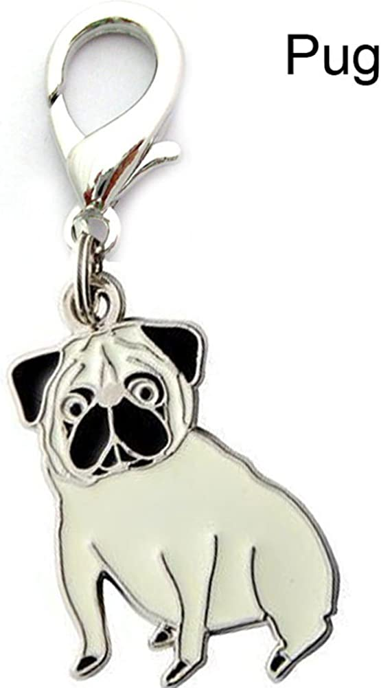 BBEART Key Ring 2 pcs Cute Pet Dogs Shape Metal Key Chain Keychains Holders Keyring
