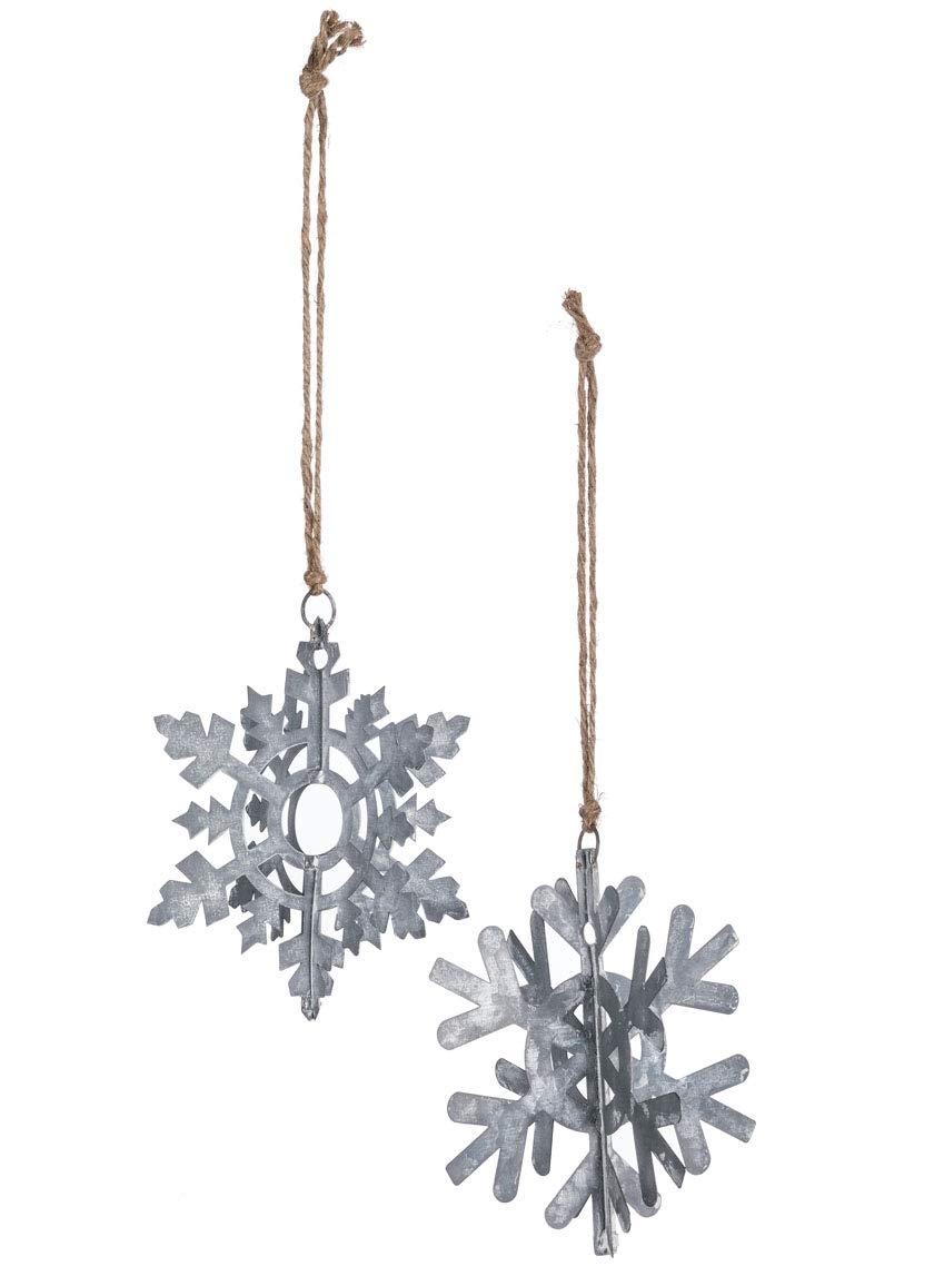 Amazon Com Sullivans 3d Galvanized Metal Snowflake Rustic Christmas