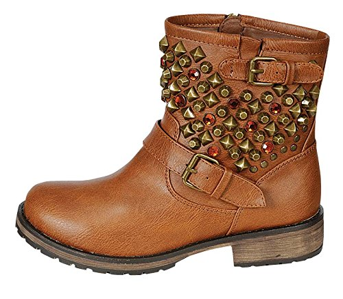 YABSHOP Breckelle's Rocker-24 Studded Military Combat Boots