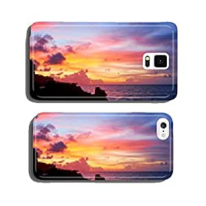 Amazing beach destination sunrise or sunset with beautiful brea cell phone cover case iPhone6 Plus