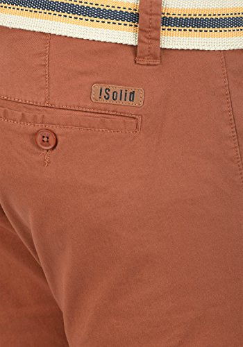 Bermuda Homme Extensible Fox 6792 solid Ceinture Chino Brown Pantalon Lagos Court Short Régulaire Coupe gSSYwpqt