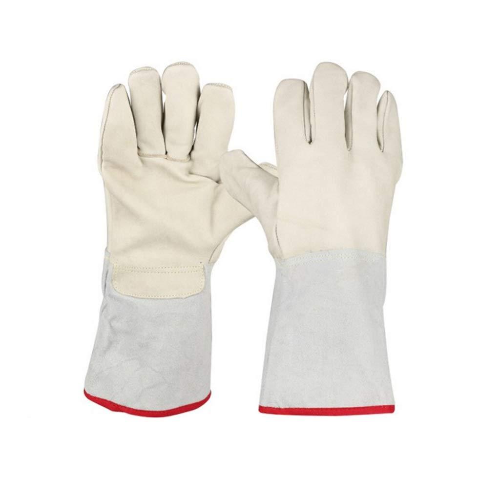 LZRZBH Long Gardening Gloves for Men and WomenBreathable & Durability, Welders Gauntlet Welding Gloves Fireplace Gloves Grill Gloves Welders Gloves(33.5cm)