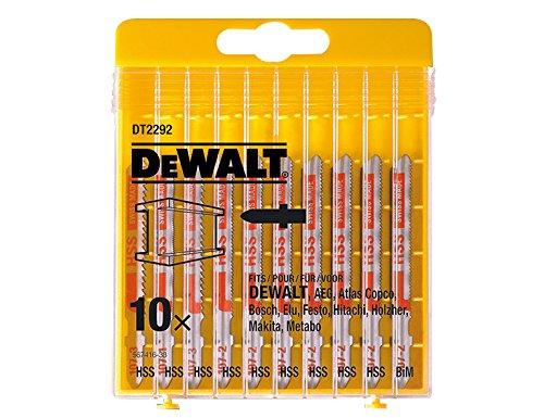 Dewalt DT2292-QZ Jigsaw Blade-Set for metal (10 Piece) (Jig Saw Blades For Metal)