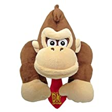 Sanei AC20 Super Mario All Star Collection Donkey Kong, 8-Inch Plush
