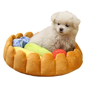 ... Nido caseta Lovely Tart cálido cómodo Perro Alfombrilla Gato Mascota colchón con Frutas Perro Gatos Peluche Juguetes: Amazon.es: Productos para mascotas