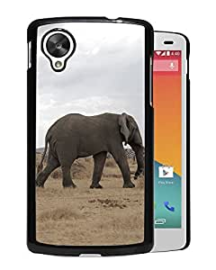 New Custom Designed Cover Case For Google Nexus 5 With African Elephant Animal Mobile Wallpaper Phone Case