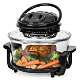 Best Choice Products 12L Electric Countertop Convection Oven w/Bake, Roast, Steam, Grill, Air Fryer Capabilities, Temperature Dial, Cooking Time, Automatic Shutoff 2 Wire Racks, Tongs - Black