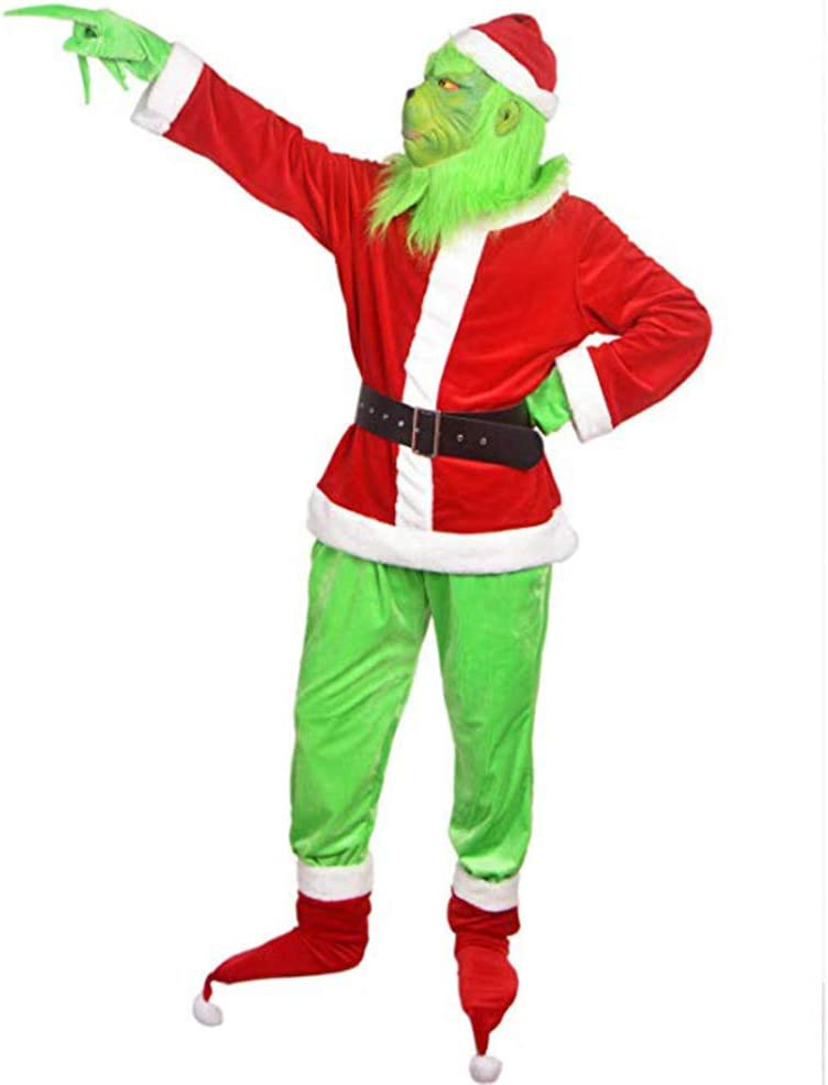 Wiouy - Máscara de Navidad con diseño de Monstruo Verde: Amazon.es ...