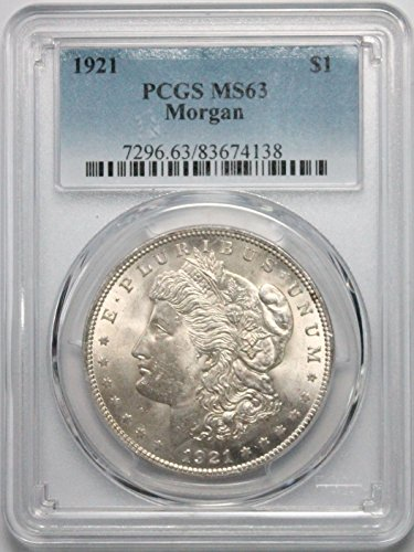 1921 P Morgan Silver Dollar $1 MS63 - Pcgs Dollar