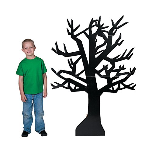 Fun Express - Classic Halloween Black Tree Standup for Halloween - Party Decor - Large Decor - Floor Stand Ups - Halloween - 1 Piece