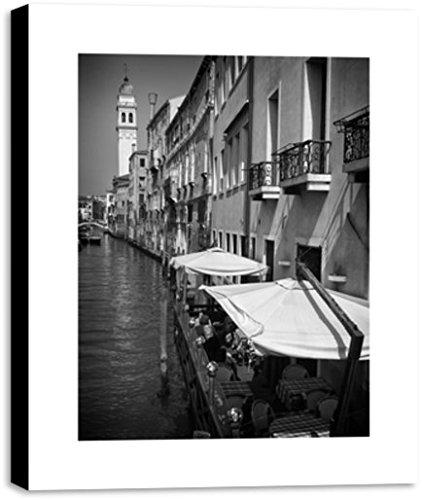 Quadro Canvas para Sala - Bares nos canais de veneza