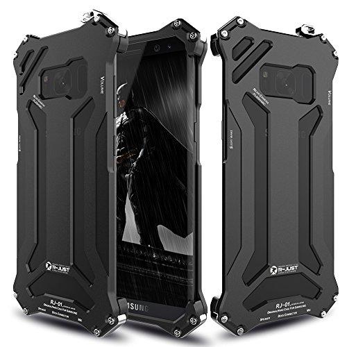 Samsung Galaxy S8 Plus Metal case,Feitenn Hybrid Armor Alloy Aluminum Metal Bumper Frame case Anti-scratch Sturdy Hard Metallic Military Heavy Duty Case for S8 plus screen protector Gift