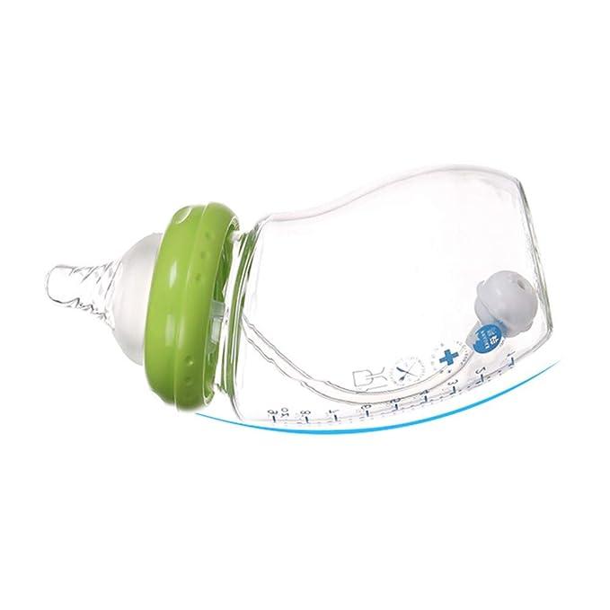 JP0SDD 8 Unids Conjunto de Alimentación de Bebé Botella de Alimentación de Dibujos Animados Botella de Vidrio Botella de Leche Pezón Cepillo Limpiador ...