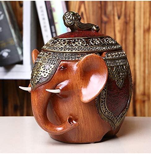 posacenere Decorativo for Office Home Esterno o dellinterno CHONGA Elephant Antivento Posacenere con Coperchio Fredda Unica Ash Tray Fancy Regalo for Fumatori Ragazze Uomini delle Donne