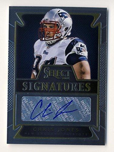 Football NFL 2014 Panini Select Signatures #18 Chris Jones NM Near Mint Auto Patriots (Card Nfl Signature)