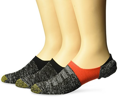 Gold Toe Mens Xs Sta-Cool No-Show Marl Tab Socks, 3-Pack