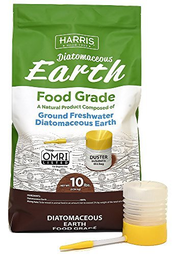 - Harris Diatomaceous Earth Food Grade, 10lb with Powder Duster Included in The Bag
