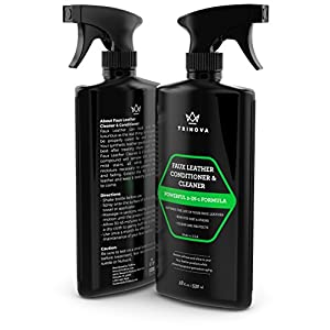 Vinyl and Faux Leather Cleaner & Conditioner - Keep Seats, Jackets, Vinyl, Handbags, Sofas, Couches, Shoes, Boots & More Looking New - TriNova