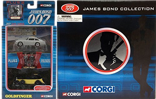 GOLDFINGER James Bond Exclusive Film Can 4 Car Set 007 BMW, Jaguar XKR, Aston Martin DB5 and the Aston Martin Vanquish + Rolls Royce Die-Cast Cars Goldfinger, Skyfall, Casino Royale, Aston Martin Jaguar Xkr James Bond