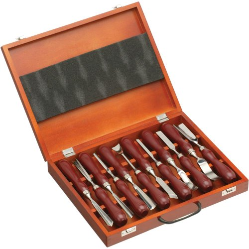 Grizzly H2930 Carving Chisel Set, 12-Piece (Chisel Set Woodworking)