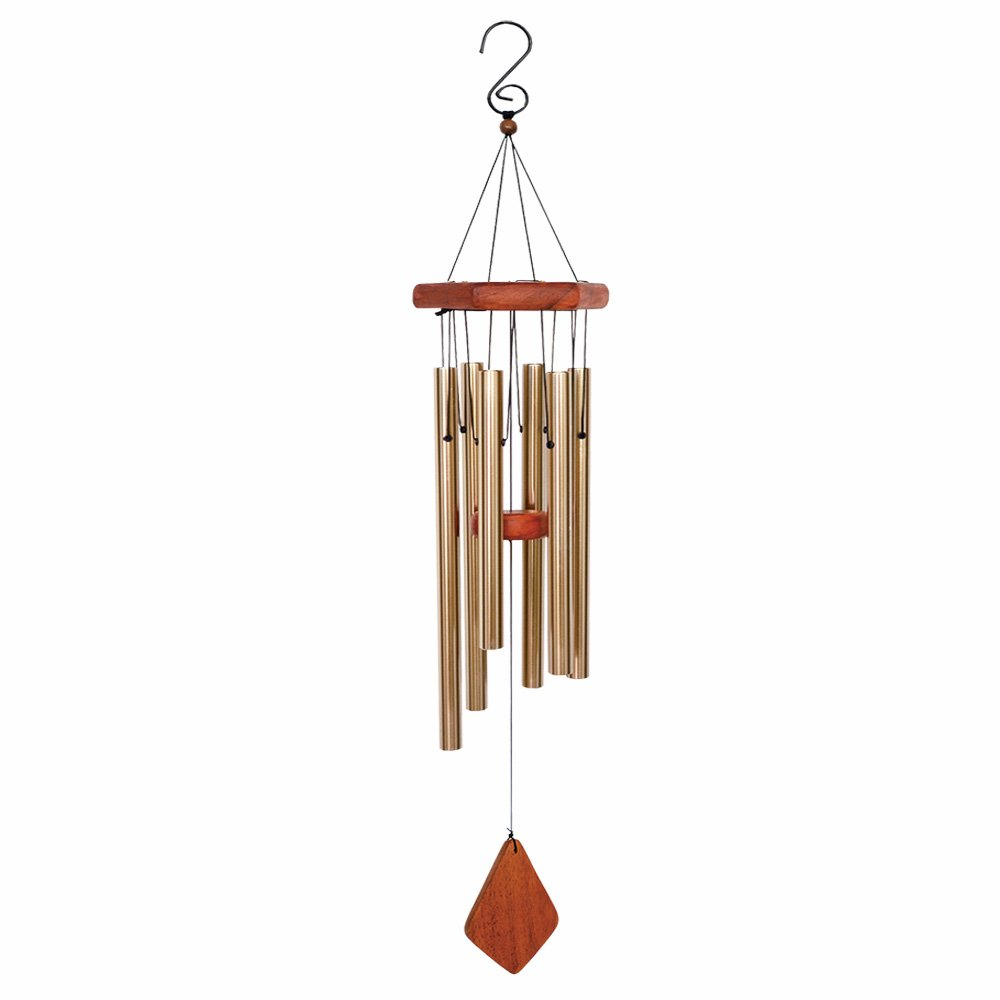 BLESSEDLAND Premium Wind Chimes-6 Hollow Aluminum Tubes, 31'' Amazing Grace Wind Chime for Garden,Yard,Patio and Home Decoration. (Brown)