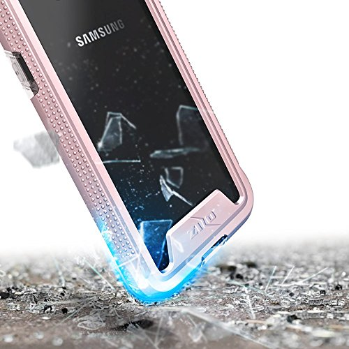 Zizo ION Series compatible with Samsung Galaxy S8 Case Military Grade Drop Tested with Tempered Glass Screen Protector ROSE GOLD CLEAR by Zizo (Image #5)