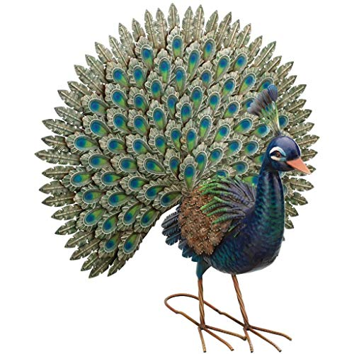 Fun Peacock Metal Statue