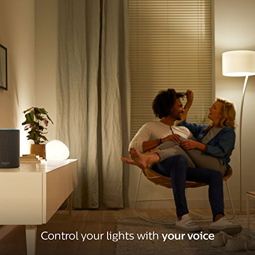Large Product Image of Philips Hue White A19 60W Equivalent Smart Bulb Starter Kit (Works with Alexa, Apple HomeKit, and Google Assistant)