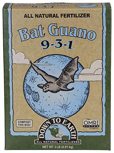 Down To Earth Organic Bat Guano Fertilizer Mix 9-3-1, 2 lb