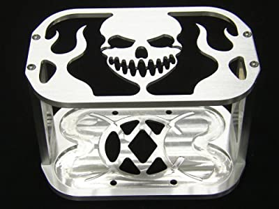 Billet Optima Battery Hold Down Tray Box Bracket Skull